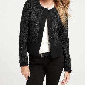 Ann Taylor Women Shimmer Tweed Jacket